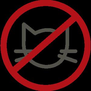 Hišni ljubljenčki niso dovoljeni